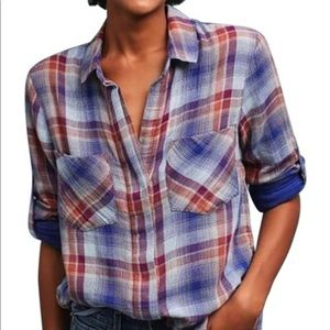 Cloth and Stone Split Back Button Down shirt